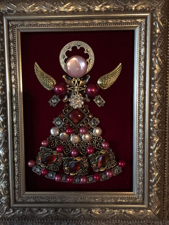 Small 5x7 Angel Made By B Turchi 2014 Vintage Jewelry