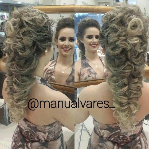 Penteado #bymanu #penteado #MANUALVARES #GLORIAADEUSPORTUDO #TRANÇAROMANA #TRANÇAS