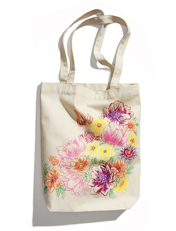 The Garden Collection at H & M, floral tote