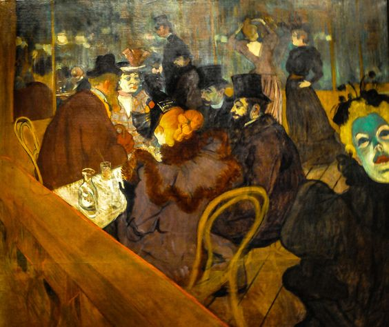 All sizes   Henri de Toulouse-Lautrec - At the Moulin Rouge, 1895 at Art Institute of Chicago IL, via Flickr.