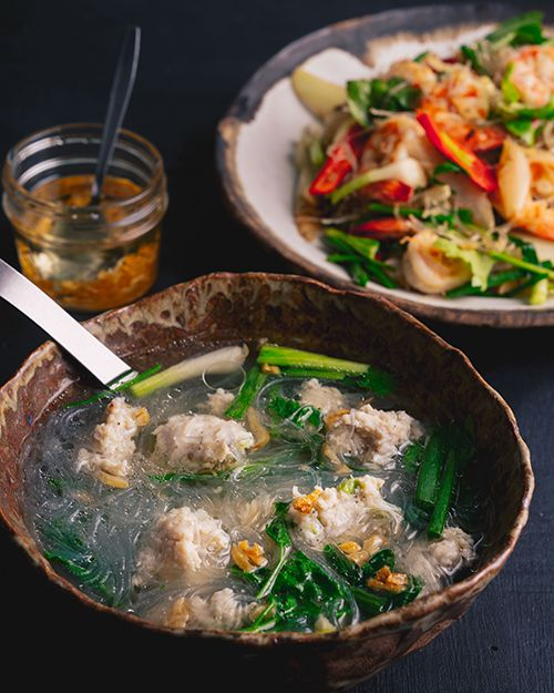 Thai Glass Noodle Chicken Soup Gaeng Jued Woon Sen Marion S Kitchen Recipe Asian Recipes Bean Thread Noodle Glass Noodle Salad