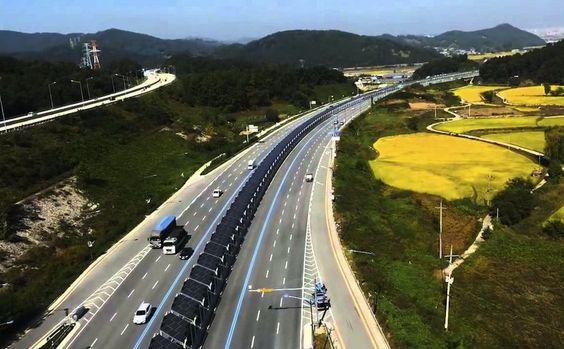 La autopista #ciclista con paneles #solares de Corea del Sur