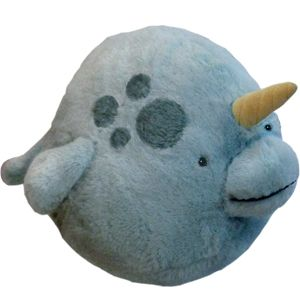 Three words: Spherical stuffed animals.  So squishable!  So loveable!  So sphere!  Also, yes, that is a narwhal.