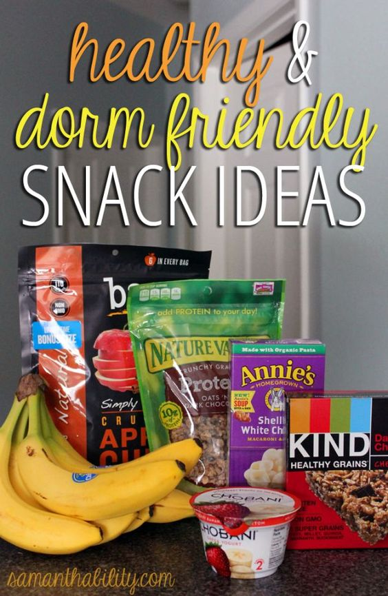 Health and dorm friendly snack ideas! These cheap and easy snack ideas are perfect for college and apartment living!