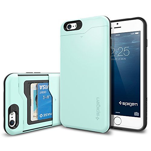 iPhone 6 Plus Case, Spigen® [Card Holder] iPhone 6 Plus (5.5) Case Wallet [Slim Armor CS] [Mint] With Card Holder Advanced Shock Absorption Protective Wallet Case for iPhone 6 Plus (5.5) (2014) - Mint (SGP10912) Spigen http://www.amazon.com/dp/B00JH83KC6/ref=cm_sw_r_pi_dp_X.weub04E7W5B