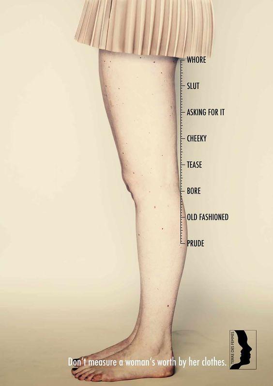 La cantidad de ropa o el largo de esta, no significa que esa mujer no se quiera. Qué cada una lleve la ropa que quiera porque le guste.