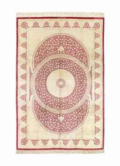 AN EXTREMELY FINE SILK QUM CARPET, CENTRAL PERSIA