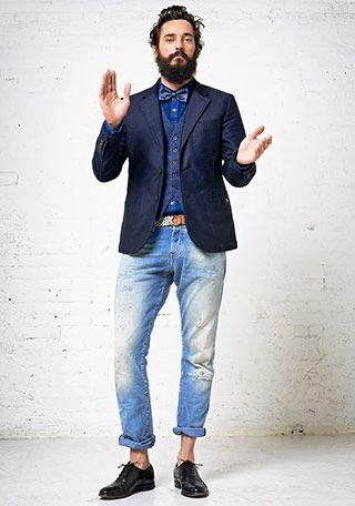 30代 テーラードジャケット×ジーンズの着こなし(メンズ)