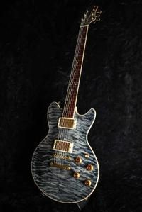"Sugi 5A Quilted Maple ""Blue See Through Black"""