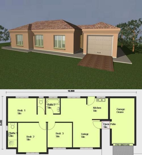 The Best Low Cost House Designs And Floor Plans South Africa And View House Plans South Africa Round House Plans Single Storey House Plans