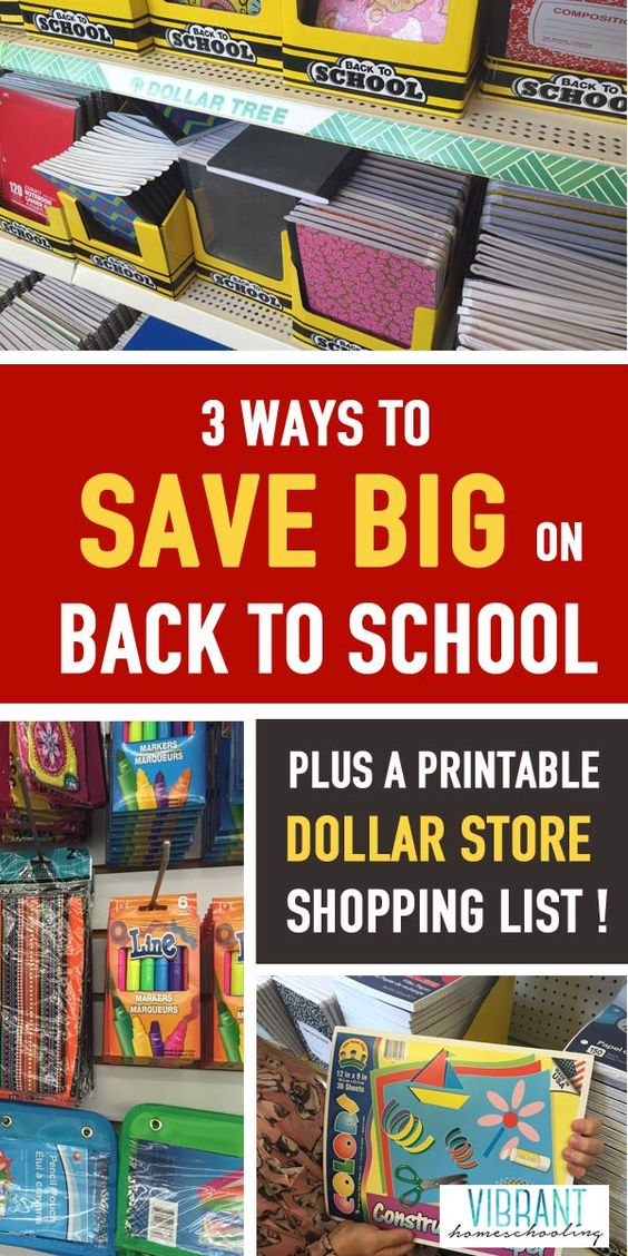Back to school doesn't have to break the bank! Check out these 3 great ways to get cheap school supplies. Includes a printable dollar store back to school supplies shopping list!