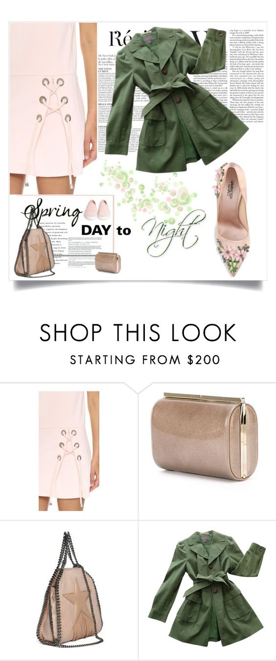 """""""Spring Day To Night"""" by belldraw ❤ liked on Polyvore featuring Anja, Jimmy Choo, STELLA McCARTNEY, Ann Taylor, Michael Kors and daytoevening"""