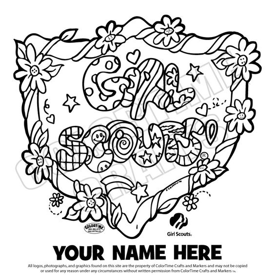 coloring page Girl scout printables Pinterest Girl