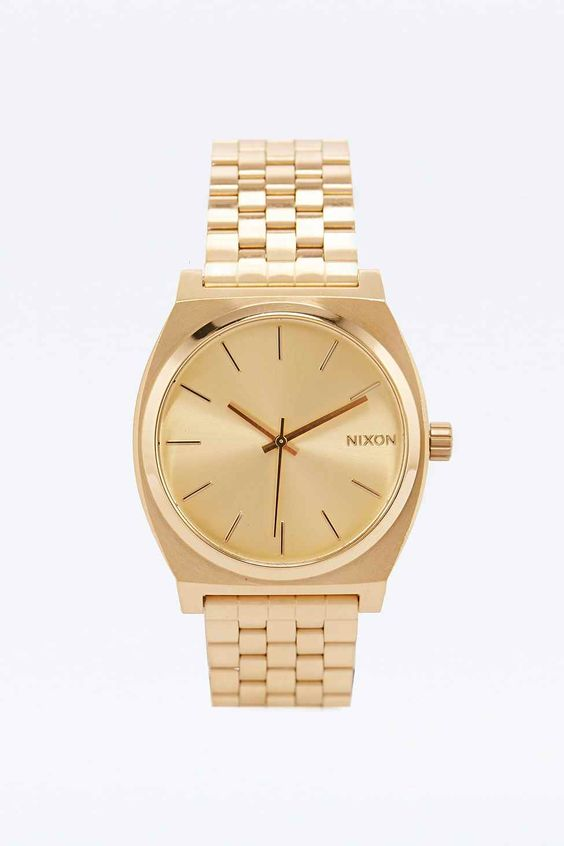 Nixon Time Teller Watch in Gold