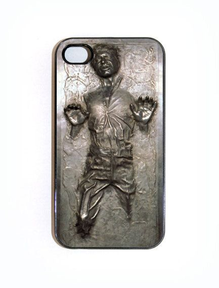 iPhone 4 4s Case Custom Han Solo Frozen In by KustomCases on Etsy. $14.50, via Etsy.
