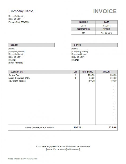 Browse Our Sample Of Paid In Full Invoice Template For Free Invoice Template Word Invoice Format In Excel Invoice Template
