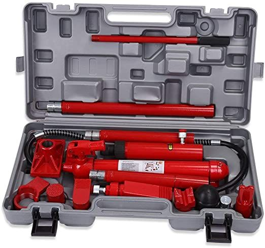 Mwpo 10 Ton Hydraulic Jack Body Porta Power Frame Repair Kit Auto Car Tool In 2020 Jack Tool Tool Kit Power Cars