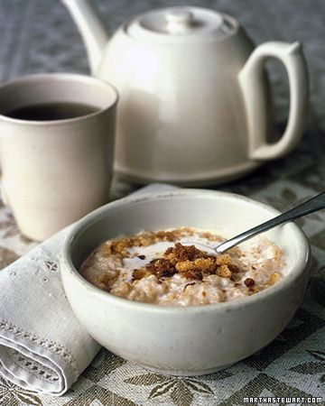 Toasting the oatmeal before cooking it gives the cereal a nutty flavor.