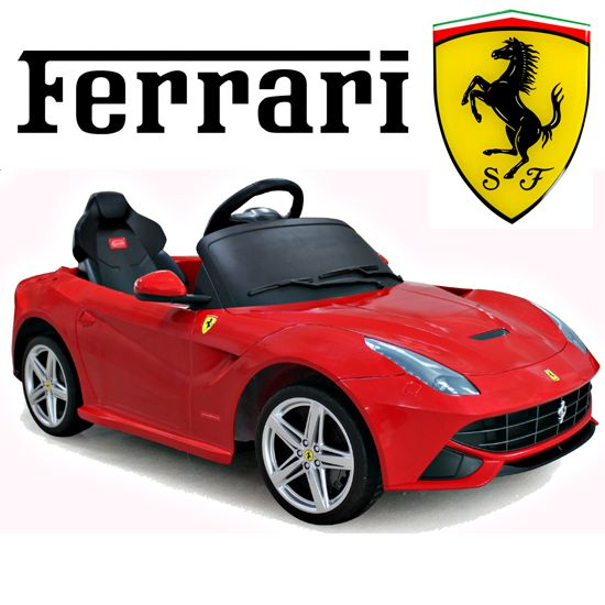 official ferrari f12 red 6v kids electric car 21999 kids electric cars little cars for little people kids electric ride on cars pinterest