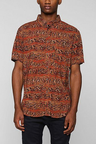 Urban Outfitters ZANEROBE Python Button-Down Shirt