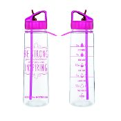 Pink Straw Motivational Bottle. Need!!!