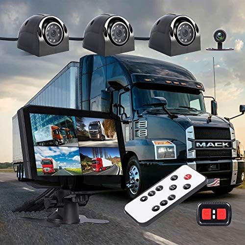 Vsysto Dash Cam Backup Camera Front Rear Sides 4 Channels