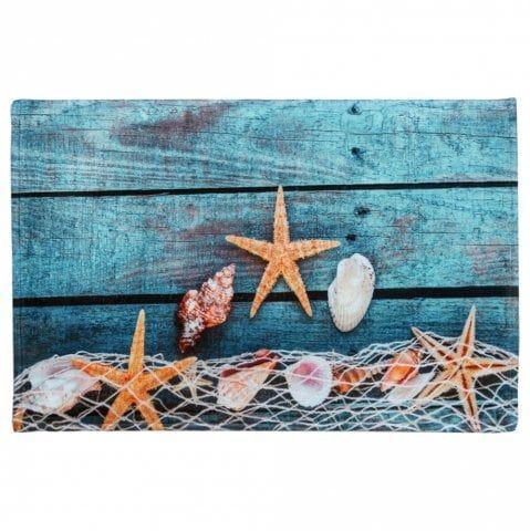 Starfish Shell Large Size Fleece Bath Rug Bath Rug Rugs On Carpet Floor Area Rugs