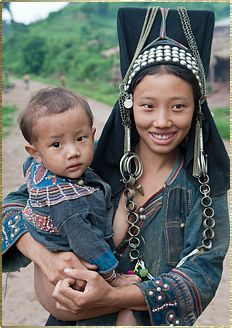 Akha  The Akha migrated from China to Laos, Myanmar, Thailand and Vietnam over the past 200 years. Some of their villages can be found today in the far north of Laos, primarily Phongsaly and Luang Namtha provinces. Traditionally living in more upland areas, some Akha communities can be very remote.