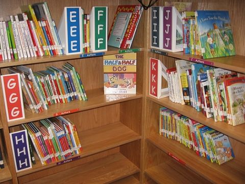 Elementary School Library Decorations | Library shelf markers printable - Welcome To The Rice 'n' Three ...