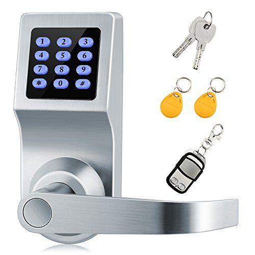 Digital Lock Xinda Lock With Remote Control Password Card And Metal Key Door Control Keypads With Adjustable Hand Perfec Smart Door Locks Digital Lock Diy Lock