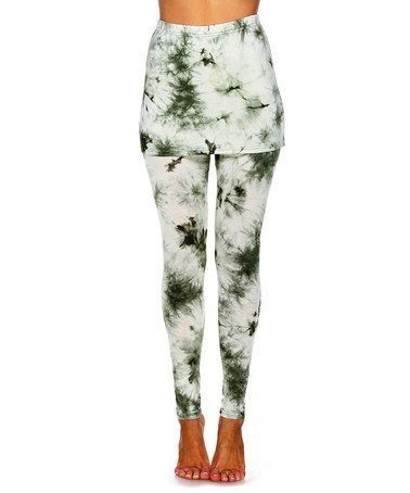 Another great find on #zulily! Olive Tie-Dye Leggings #zulilyfinds