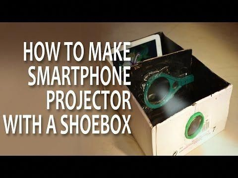How To Make Smartphone Projector Without Magnifying Glass Using Bulb Shoe Box Bulb At Home Youtube Smar Smartphone Projector Projector Phone Projector