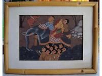 "Gemälde ""Ausflug zu Elefant"" - Thailand"