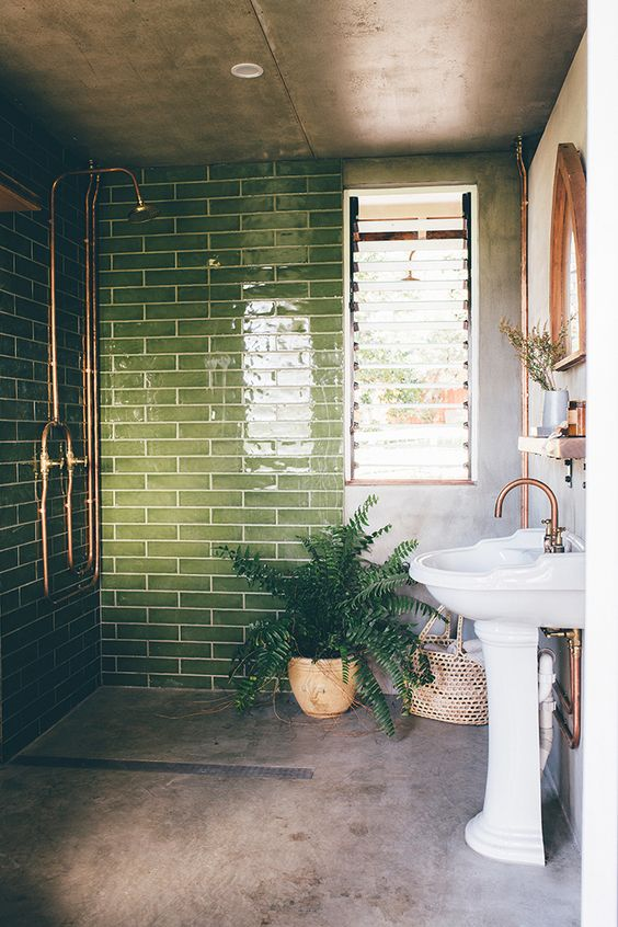 The New Nz Design Blog The Best Design From New Zealand And The World But Mainly Nz Bathroom Interior Design Green Tile Bathroom Unique Bathroom