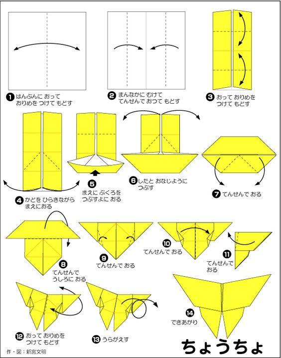 クリスマス 折り紙 折り紙 ちょうちょ : jp.pinterest.com