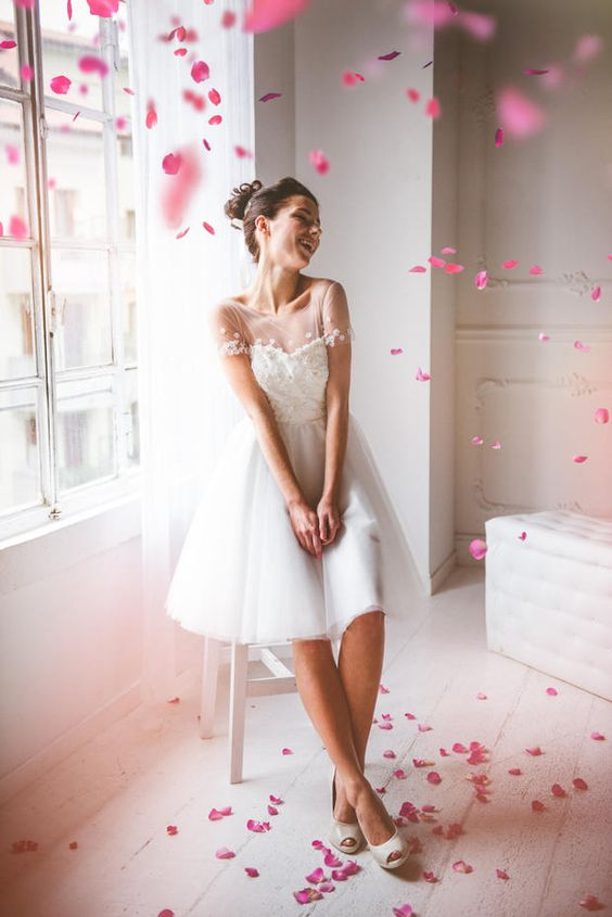 """Abiti da sposa """"non convenzionali"""" firmati Nadia Manzato - #Fabulousity #abito #sposa #corto #partocolare #fattoamano"""