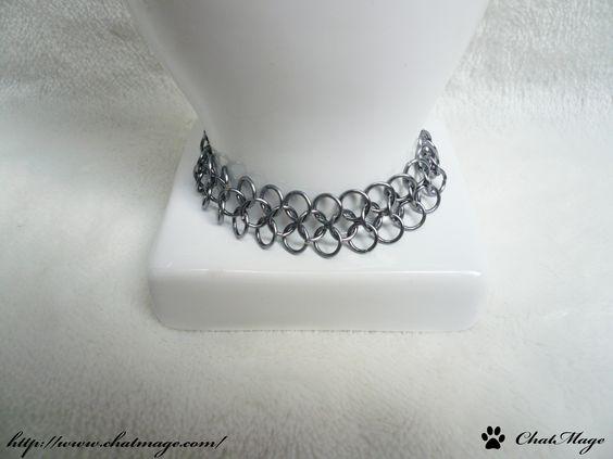 """Bracelet de style médiéval, """"Cotte de mailles"""", anneaux, moyen-âge / Bracelet, medieval style, """"chainmail"""", rings, jump rings"""