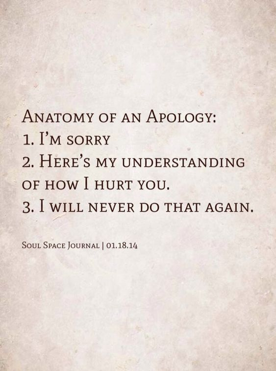 Anatomy of an Apology (quote via bobbyism)