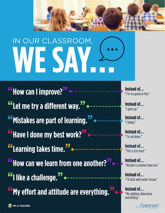 Free growth mindset poster #weareteachers: