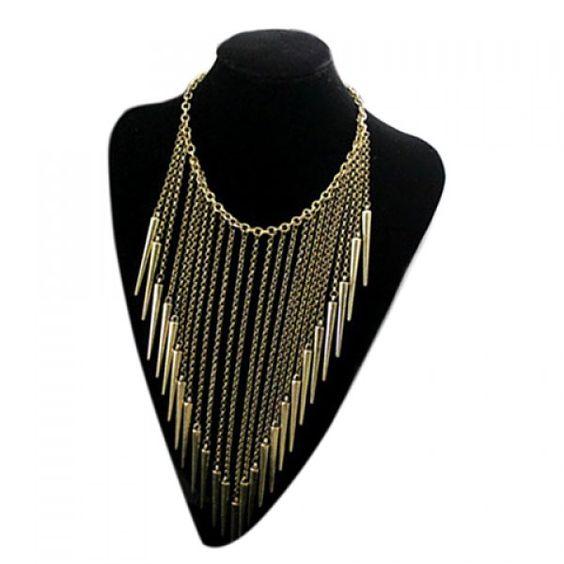 Punk Retro Style Rivet Tassels Pendant Design Women's Necklace, COLOR ASSORTED in Necklaces   DressLily.com