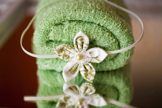 Stretch Knit Wrap and Flower Headband Set by ItsyBitsyBlooms, $30.00