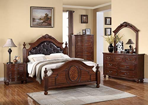 Sheridan Collection King Size Bed Traditional Cherry Wood Bedroom Furniture NEW