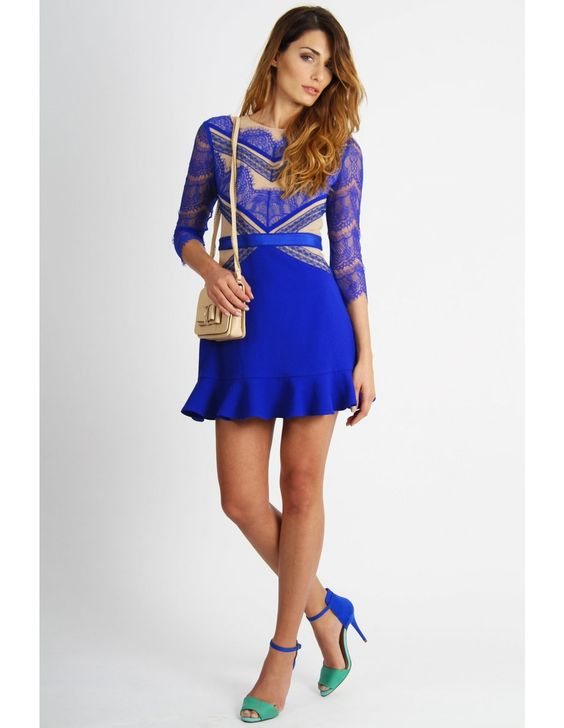 pleated lace long sleeve dress summer dresses new fashion 2013 ...