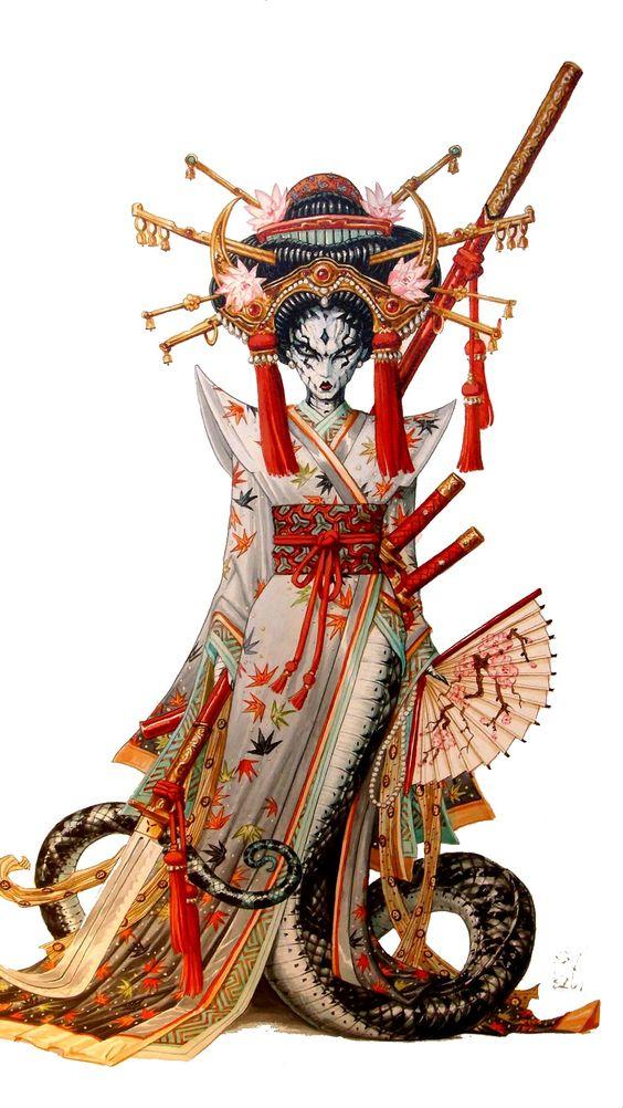 Geisha by Ledroit
