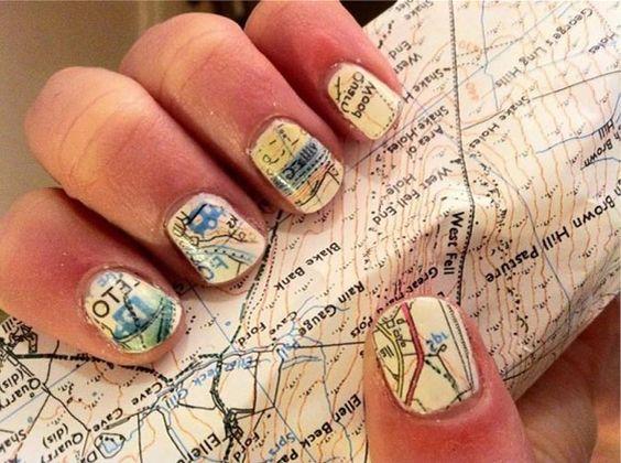 Faça você: Nail art de mapa! | Depois dos Quinze | Bruna Vieira