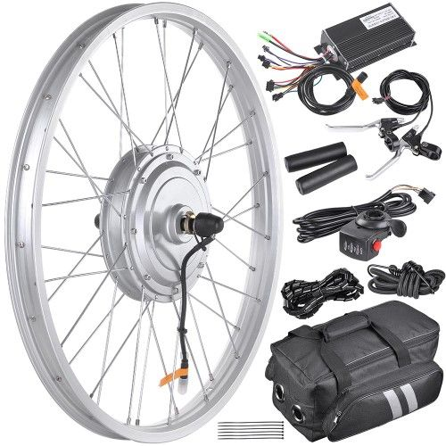 A Yescom 36v 750w 24 In Front Wheel Electric Bicycle Conversion Kit For 24 X1 95 2 Electric Bicycle Conversion Kit Electric Bike Conversion Electric Bicycle