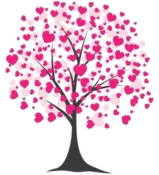 Clip Art Free Valentines Day Clipart valentines clip art free day clipart of a tree blooming with pink hearts