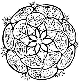 Varieté de Láminas para Decoupage: Mandalas en blanco y negro...