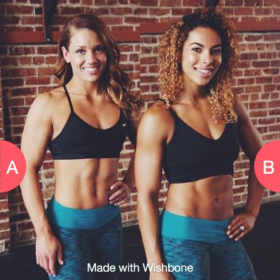 Which girl from @twobadbodies inspires you more to workout?  Click here to vote @ http://getwishboneapp.com/share/1047825