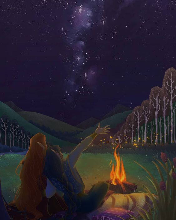 "Gem's Art on Instagram: ""A full day with Maedhros and Fingon  Part 4 / 4 : Midnight Stargazing  #silmarillion #fingon #maedhros #russingon #digitalart…"""